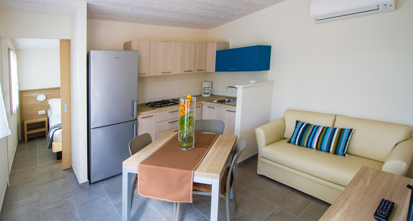 Camping del  Mare dispone di: Bungalows, Bungalows Rialzati, Cottages, Chalets, Nuovi Chalets, Piazzole